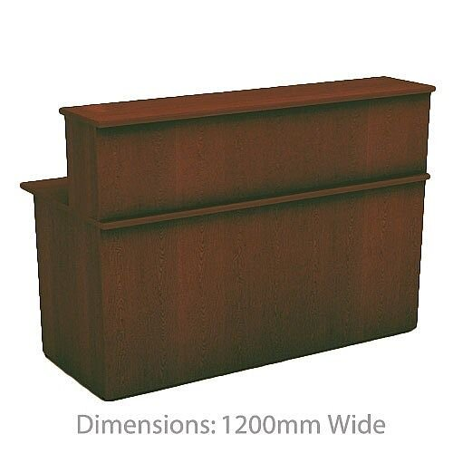 Ashford Walnut Reception Unit 1200mm