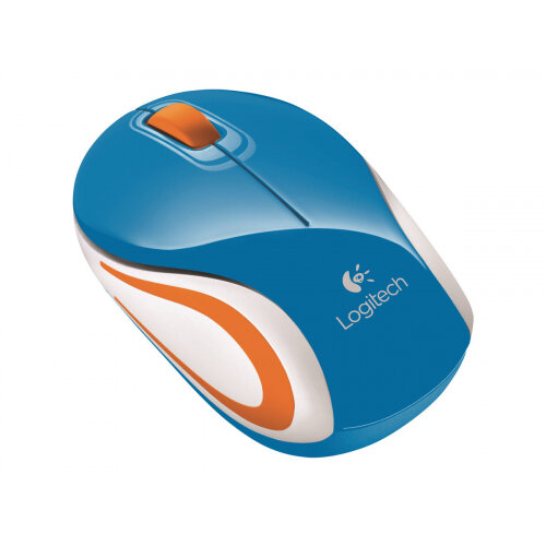 Logitech M187 - Mouse - optical - wireless - 2.4 GHz - USB wireless receiver - blue