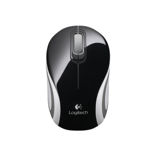 Logitech M187 - Mouse - optical - wireless - 2.4 GHz - USB wireless receiver - black