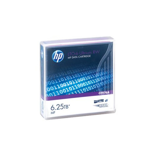 HPE Ultrium RW Data Cartridge - LTO Ultrium 6 6.25 TB - for LTO-5 Ultrium; StoreEver 6250, LTO-6, MSL2024, MSL4048, MSL8096; StoreEver 1/8 G2