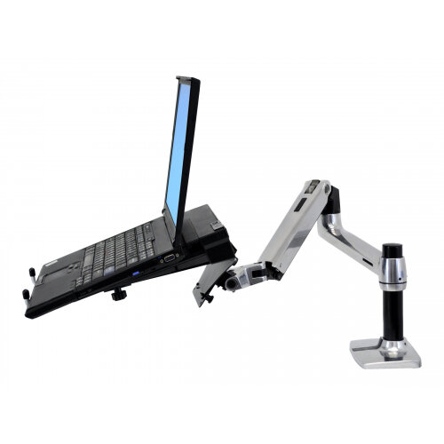 """Ergotron LX Desk Mount LCD Arm - Mounting kit (articulating arm, desk clamp mount, grommet mount, extension brackets) for LCD display - aluminium - polished aluminium - screen size: up to 32"""""""