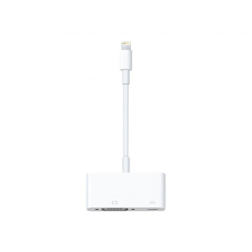 Apple - VGA adapter - Lightning (M) to HD-15, Lightning (F) - for 12.9-inch iPad Pro; 9.7-inch iPad Pro; iPad Air; iPad Air 2; iPad mini; iPad mini 2; 3; 4