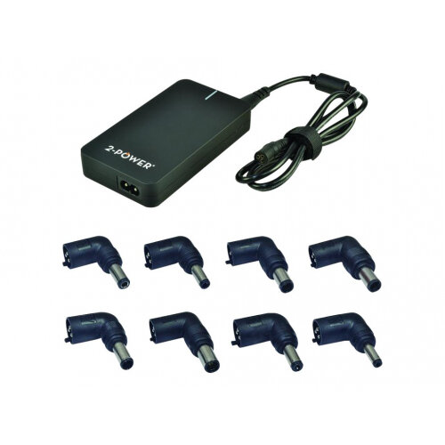 2-Power Universal Slimline - Power adapter - AC 230 V - 90 Watt - United Kingdom