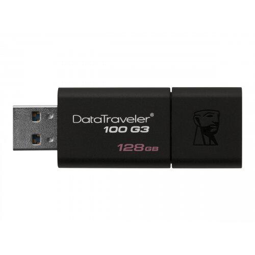 Kingston DataTraveler 100 G3 - USB Flash Drive - 128 GB - USB 3.0 - Black