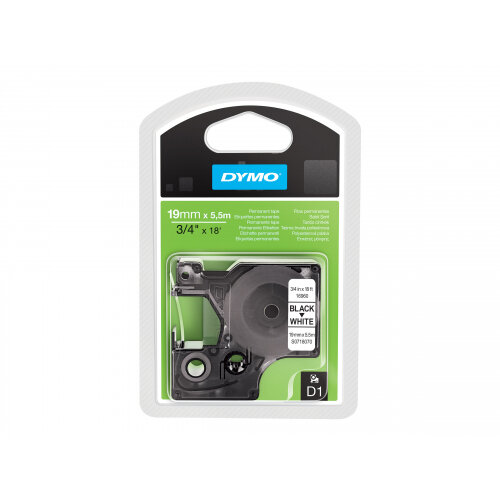 DYMO D1 - Polyester - permanent adhesive - black on white - Roll (1.9 cm x 5.5 m) 1 roll(s) label tape - for LabelMANAGER 360D, 420P, 420P Kit, 500TS, PC2, PnP