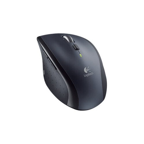 Logitech M705 - Mouse - right-handed - laser - wireless - 2.4 GHz - USB wireless receiver - silver