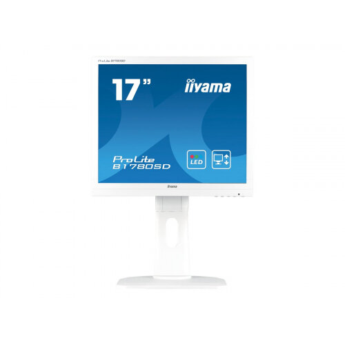 "Iiyama ProLite B1780SD-1 - LED Computer Monitor - 17"" - 1280 x 1024 - TN - 250 cd/m² - 1000:1 - 5 ms - DVI-D, VGA - speakers - white"