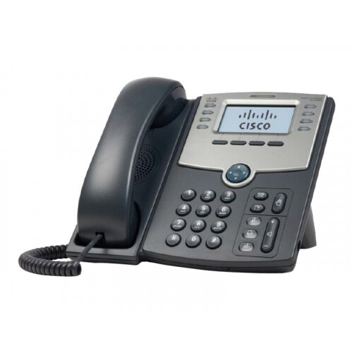 Cisco Small Business SPA 508G - VoIP phone - SIP, SIP v2, SPCP - multiline - silver, dark grey - for Small Business Pro Unified Communications 320 with 4 FXO