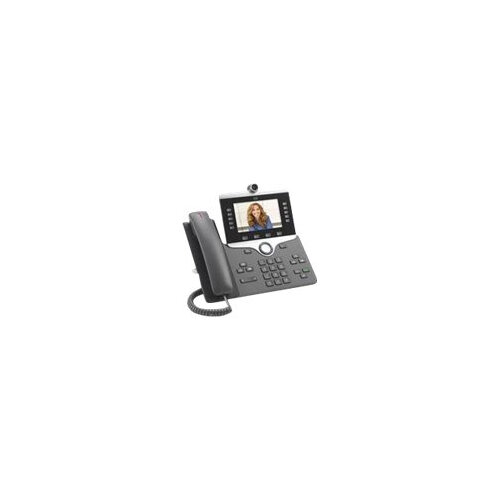 Cisco IP Phone 8865 - IP video phone - digital camera, Bluetooth interface - IEEE 802.11a/b/g/n/ac (Wi-Fi) - SIP, SDP - 5 lines - charcoal