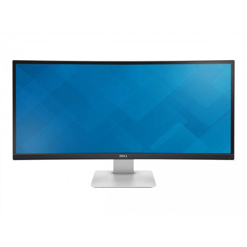 """Dell UltraSharp U3415W - LED Computer Monitor - curved - 34.08"""" (34.08"""" viewable) - 3440 x 1440 - IPS - 300 cd/m² - 1000:1 - 5 ms - 2xHDMI, DisplayPort, Mini DisplayPort, MHL - speakers - black"""