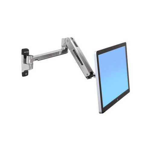"""Ergotron LX HD Sit-Stand Wall Mount LCD Arm - Wall mount for LCD display - aluminium - polished aluminium - screen size: up to 46"""""""