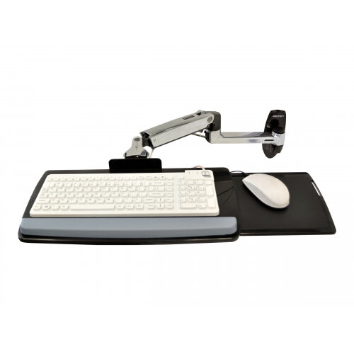 Ergotron LX Wall Mount Keyboard Arm - Keyboard/mouse arm mount tray - wall mountable - polished aluminium