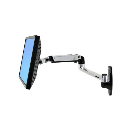"""Ergotron LX Wall Mount LCD Arm - Mounting kit (articulating arm, mounting base, extension brackets) for LCD display - aluminium - screen size: up to 27"""" - wall-mountable"""