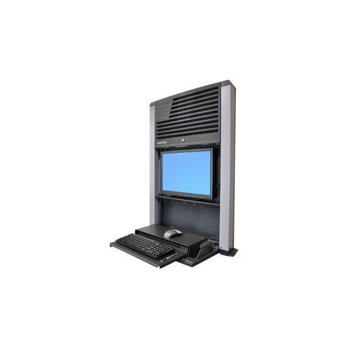 """Ergotron StyleView Sit-Stand Enclosure - Cabinet unit for LCD display / keyboard / mouse / CPU - charcoal black - screen size: 22"""" - wall-mountable"""