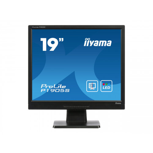 "Iiyama ProLite P1905S-2 - LED Computer Monitor - 19"" - 1280 x 1024 - TN - 300 cd/m² - 1000:1 - 5 ms - DVI-D, VGA - speakers - black"