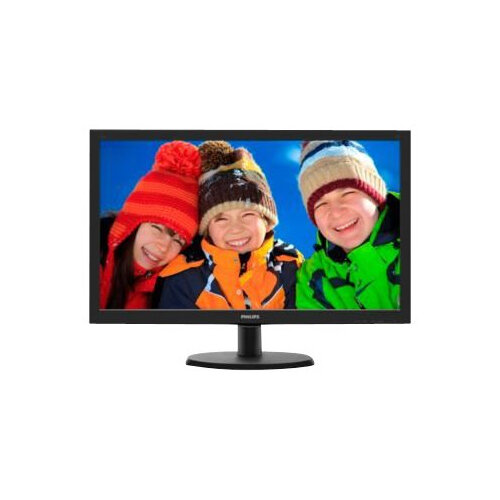 "Philips V-line 223V5LSB2 - LED Computer Monitor - 21.5"" - 1920 x 1080 Full HD (1080p) - 200 cd/m² - 600:1 - 5 ms - VGA - textured black, black hairline"