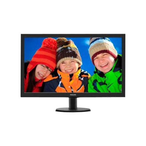 "Philips V-line 273V5LHAB LED Computer Monitor - 27"" - 1920 x 1080 Full HD (1080p) - HDMI, DVI-D, VGA - Speakers, Colour: Black"