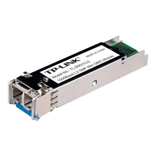 TP-Link TL-SM311LS - SFP (mini-GBIC) transceiver module - fibre optic - LC single-mode - up to 10 km - 1310 nm