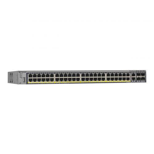 NETGEAR M4100-50G-PoE - Switch - L2+ - Managed - 50 x 10/100/1000 + 4 x shared SFP - desktop, rack-mountable - PoE+ (380 W)