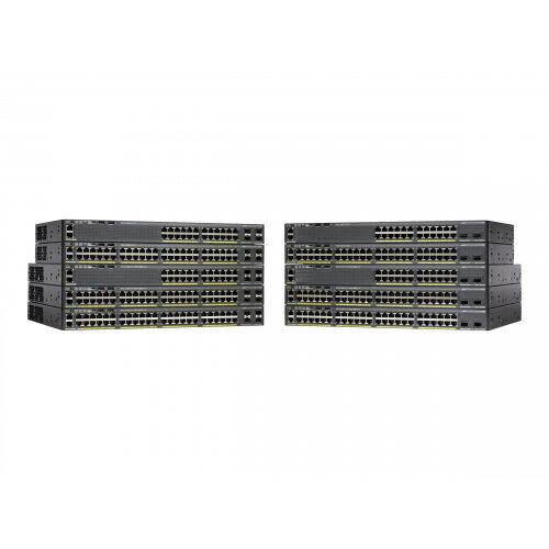 Cisco Catalyst 2960X-24TD-L - Switch - Managed - 24 x 10/100/1000 + 2 x SFP+ - desktop, rack-mountable