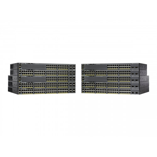 Cisco Catalyst 2960X-24TS-L - Switch - Managed - 24 x 10/100/1000 + 4 x Gigabit SFP - desktop, rack-mountable