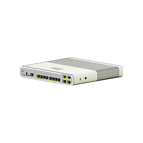 Cisco Catalyst Compact 2960C-8TC-L - Switch - Managed - 8 x 10/100 + 2 x shared Gigabit SFP - desktop, rack-mountable, wall-mountable