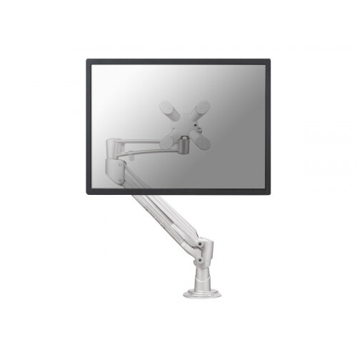 "NewStar Full Motion Desk Mount (grommet) for 10-30"" Monitor Screen, Height Adjustable (gas spring) - Silver - Adjustable arm for LCD display (Tilt &Swivel) - silver - screen size: 10""-30"" - desk-mountable"