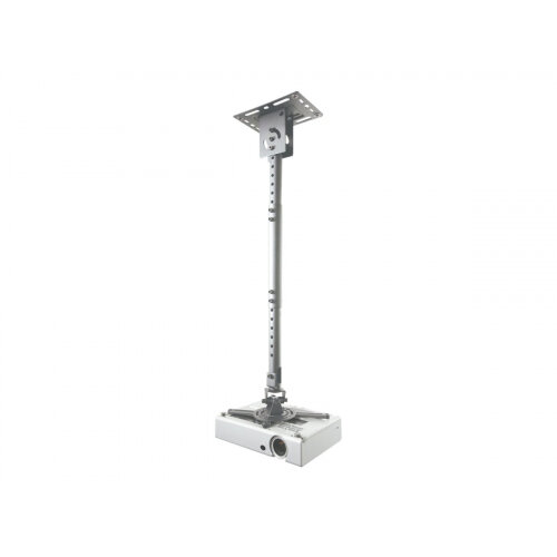 NewStar Universal Projector Ceiling Mount, Height Adjustable (58-83cm) - Silver - Ceiling mount for projector - silver
