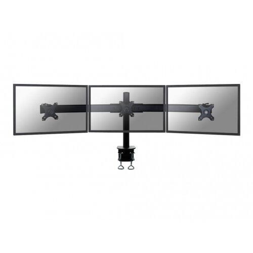 "NewStar Tilt/Turn/Rotate Triple Desk Mount (clamp) for three 10-27"" Monitor Screens, Height Adjustable - Black - Desk mount for 3 LCD / plasma panels - black - screen size: 10""-27"""