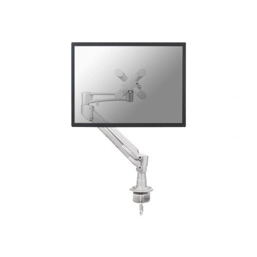 """NewStar Full Motion Desk Mount (clamp) for 10-37"""" Monitor Screen, Height Adjustable (gas spring) - Silver - Adjustable arm for LCD display - silver - screen size: 10""""-37"""" - desk-mountable"""