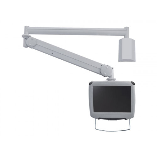 "NewStar Medical Monitor Wall Mount (Full Motion gas spring) for 10""-24"" Screen - Grey - Adjustable arm for medical monitor (Tilt &Swivel) - grey - screen size: 10""-24"" - wall-mountable"