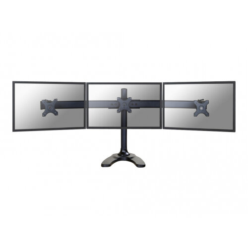 "NewStar Tilt/Turn/Rotate Triple Desk Stand for three 10-27"" Monitor Screens, Height Adjustable - Black - Stand for 3 LCD displays - black - screen size: 10""-27"" - table-top"