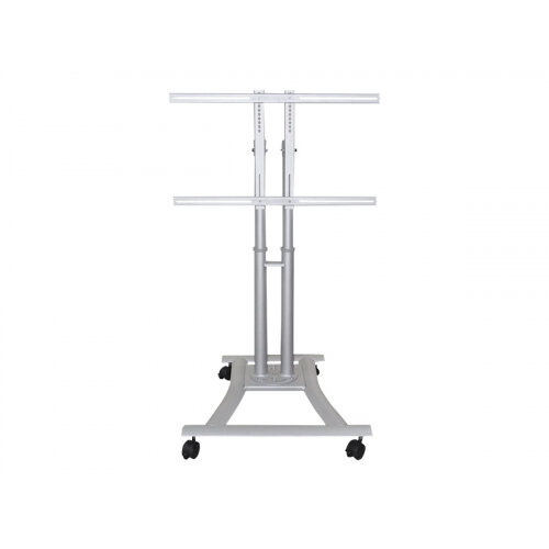 "NewStar Mobile Monitor/TV Floor Stand for 27""-70"" Screen , Height Adjustable - Silver - Cart for LCD / plasma panel - silver - screen size: 27""-70"""