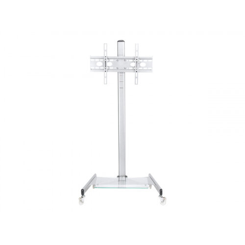 "NewStar Mobile Monitor/TV Floor Stand for 27-70"" screen, Height Adjustable - Silver - Stand for LCD / plasma panel - silver - screen size: 27""-70"" - mounting interface: 100 x 100 mm - floor-standing"
