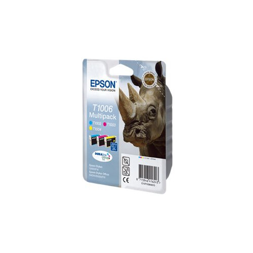 Epson T1006 Multipack - 3-pack - 33.3 ml - yellow, cyan, magenta - original - blister - ink cartridge - for Stylus SX510, SX515, SX600, SX610; Stylus Office B1100, B40, BX310, BX600, BX610