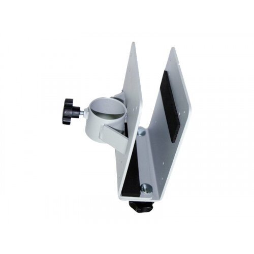 NewStar Thin Client Holder (attach between monitor and mount) - Black - Mounting component (holder) for thin client - silver - pole mount - for NewStar Full Motion Dual Desk Mount, Tilt/Turn/Rotate Quad Desk Mount