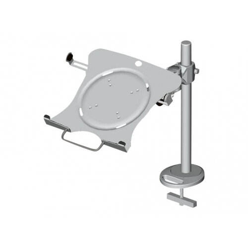 NewStar Laptop Holder (mounting via Vesa 75x75 to 100x100mm) - Silver - Mounting component (holder) for notebook - silver - arm mountable
