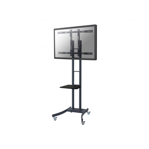 """NewStar Mobile TV Floor Stand for 37-85"""" screen, Height Adjustable - Black - Cart for LCD display - black - screen size: 37""""-85"""""""