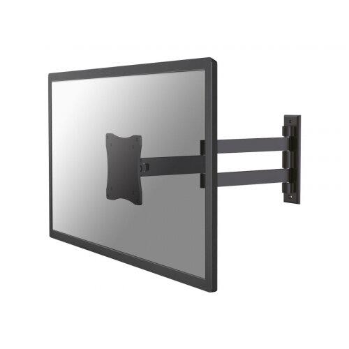 "NewStar TV/Monitor Wall Mount (Full Motion) for 10""-27"" Screen - Black - Adjustable arm for LCD display (Tilt &Swivel) - black - screen size: 10""-27"" - wall-mountable"