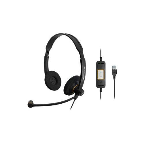 Sennheiser SC 60 USB ML - Call Center - headset - on-ear - wired - black with orange highlights