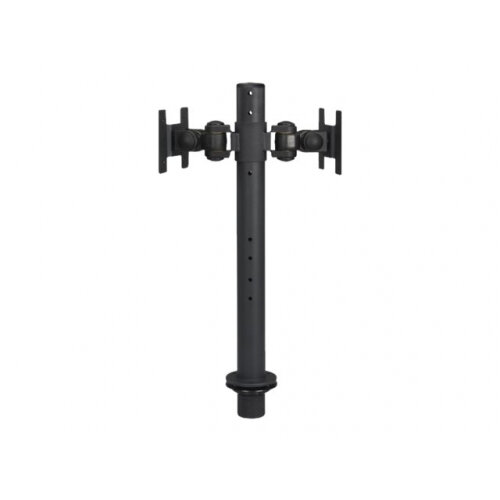 "NewStar Tilt/Turn/Rotate Dual Desk Mount (grommet) for two 10-27"" Monitor Screens BACK TO BACK, Height Adjustable - Black - Desk mount for 2 LCD displays - black - screen size: 10""-30"""
