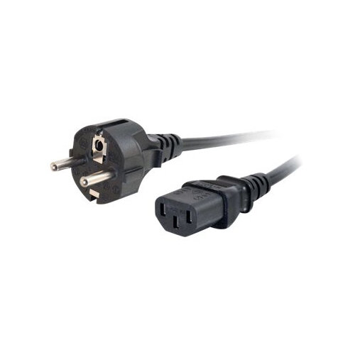 C2G Universal Power Cord - Power cable - CEE 7/7 (M) to IEC 60320 C13 - 1 m - molded - black - Europe