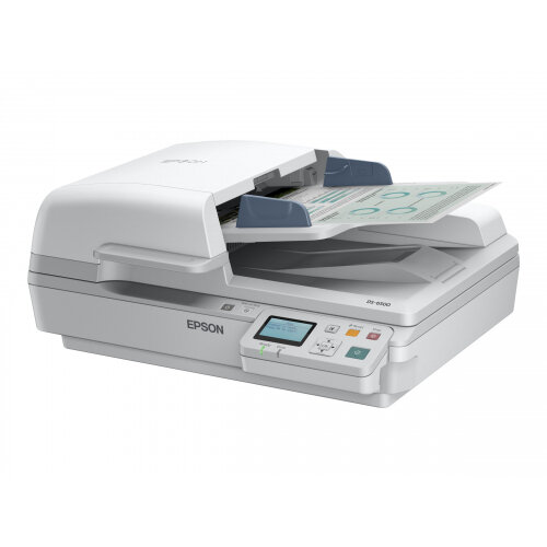 Epson WorkForce DS-7500N - Document scanner - Duplex - A4 - 1200 dpi x 1200 dpi - up to 40 ppm (mono) / up to 40 ppm (colour) - ADF (100 sheets) - up to 4000 scans per day - USB 2.0, LAN
