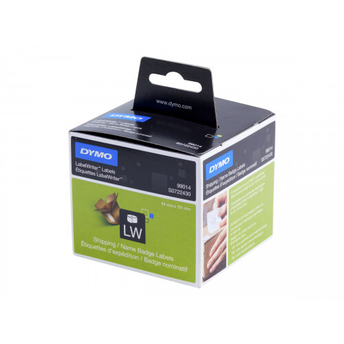 DYMO LabelWriter Shipping - Adhesive - white - 54 x 101 mm 220 label(s) (1 roll(s) x 220) shipping/name badge labels - for DYMO LabelWriter 320, 330, 330 Turbo, 400, 400 Duo, 400 Turbo, 400 Twin Turbo