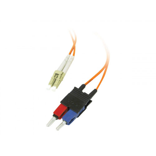 C2G Low-Smoke Zero-Halogen - Patch cable - LC multi-mode (M) to SC multi-mode (M) - 2 m - fibre optic - 62.5 / 125 micron - orange
