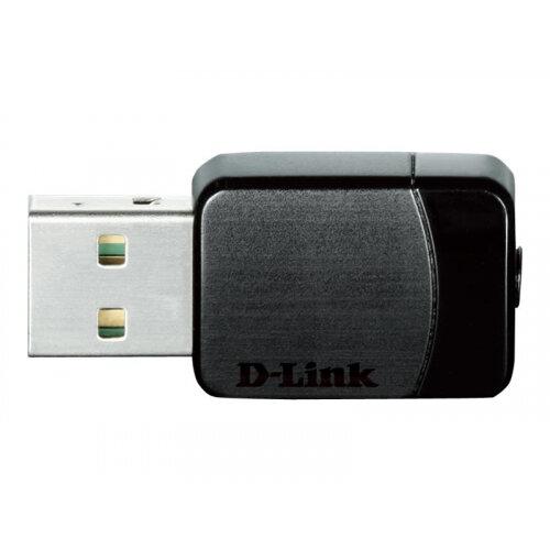 D-Link Wireless AC DWA-171 - Network adapter - USB 2.0 - 802.11b, 802.11a, 802.11g, 802.11n, 802.11ac (draft 2.0)