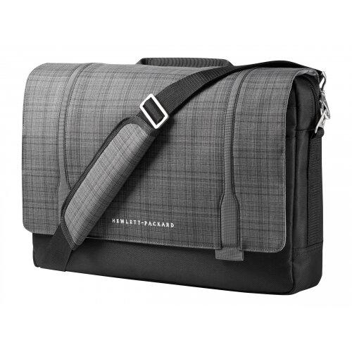 "HP Slim Ultrabook Messenger - Notebook carrying case - Laptop Bag - 15.6"" - grey plaid, black twill - for Chromebook x360; EliteBook 1040 G4; ProBook 650 G4; Stream Pro 11 G4; ZBook 14u G4"
