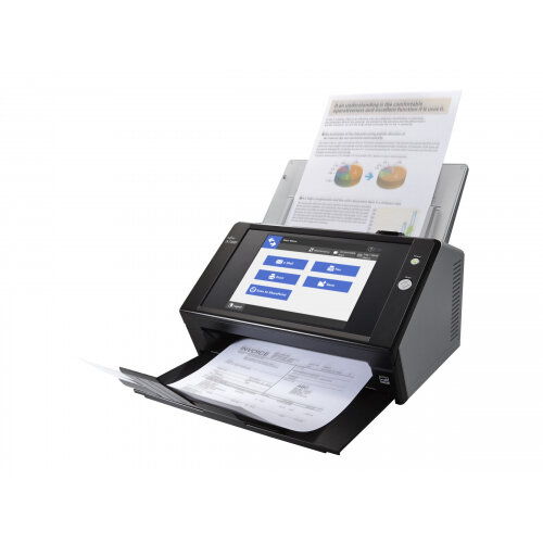 Fujitsu Network Scanner N7100 - Document scanner - Duplex - 216 x 355.6 mm - 600 dpi x 600 dpi - up to 25 ppm (mono) / up to 25 ppm (colour) - ADF (50 sheets) - up to 400 scans per day - Gigabit LAN