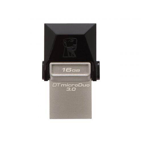 Kingston DataTraveler microDuo - USB flash drive - 16 GB - USB 3.0