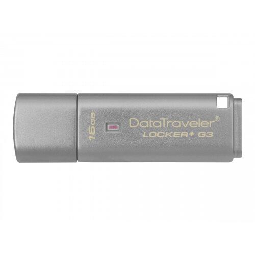 Kingston DataTraveler Locker+ G3 - USB flash drive - encrypted - 16 GB - USB 3.0